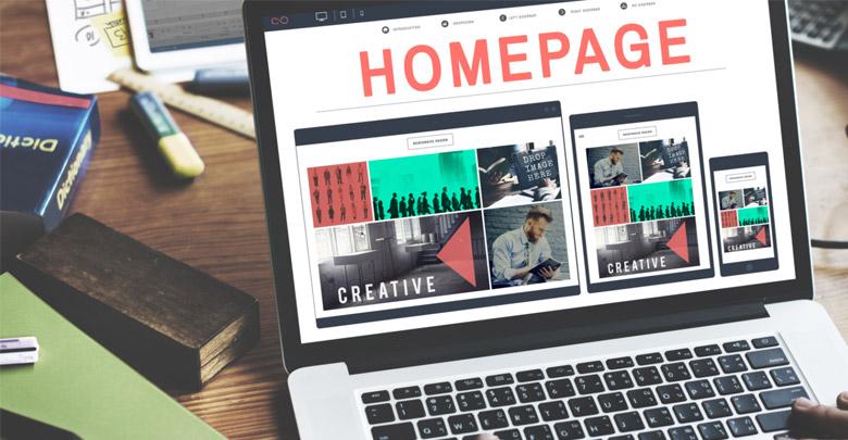 طراحی صفحه اول سایت